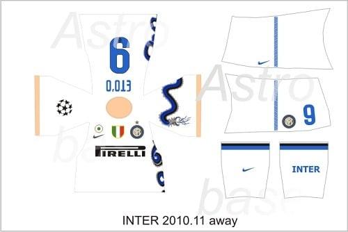 Inter Milan away 2010/2011