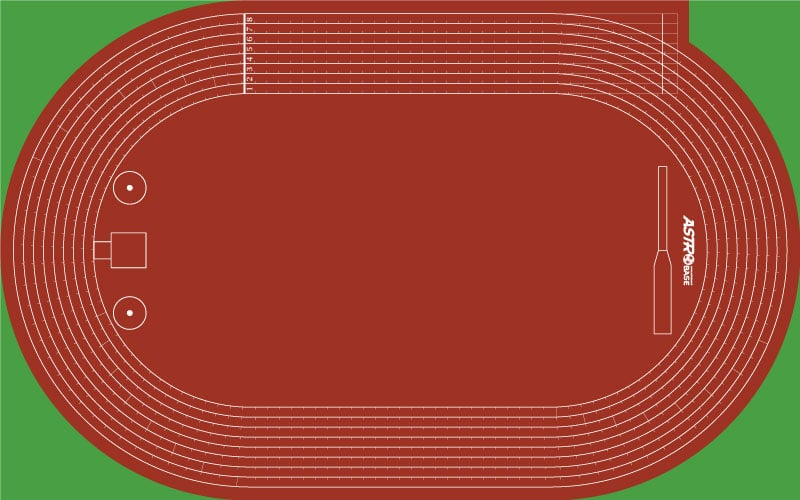 Athletics track and PIONEERS pitch
